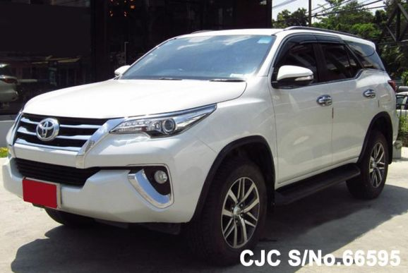 Toyota Fortuner White Automatic SUV 2.4L Diesel 2016